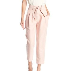 Joie Pants - Joie Jun Tie Waist Slim Leg Pants Light Pink 00